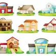 Cтоковый вектор: Houses and other building