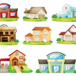 Stock Vector: Houses and other building