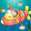 Submarine adventure — Vector de stock #11279544