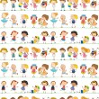 Seamless children — Vector de stock