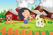 Farm scene — Stock Vector