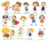 简单的孩子 — 图库矢量图片