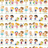 Seamless children — Stock Vector