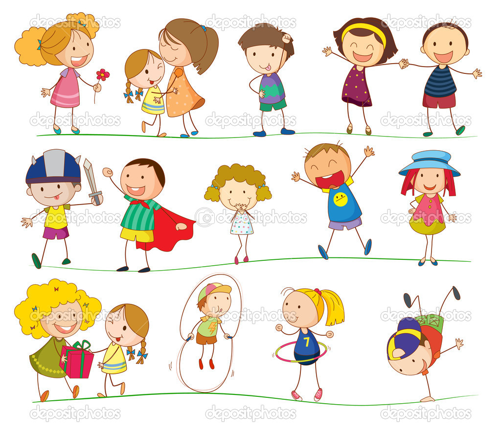 Simple kids stock vector interactimages 11279535 for Illustration minimaliste
