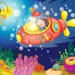 Kids in water — Stock Vector #11300899