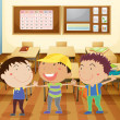 Kids in classroom — Stock Vector