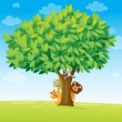 Royalty-Free Stock Vector Image: Animals under tree