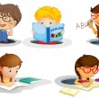 Kids studying — Stockvector  #11323921