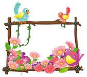 Various birds — Stock Vector