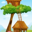 Tree house — Stock Vector