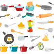 Various utensils — Stock Vector