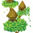 Tree house - Stock Vector