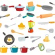 Various utensils - Stock Vector