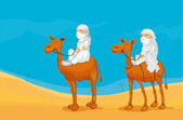 Camel and arabs — Stock Vector