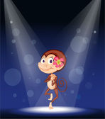 A monkey on stage — Stock Vector