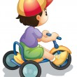 Riding along — Stock Vector