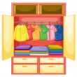 Stock Vector: Empty wardrobe