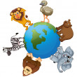 Royalty-Free Stock Vector Image: Various animals on earth