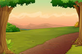 Country path — Stock Vector