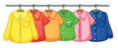 挂着的衣服 — 图库矢量图片