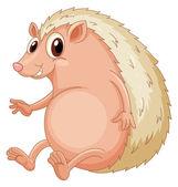 Hedgehog sitting — Stock Vector