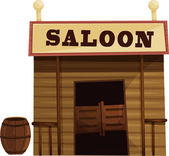 Saloon — Stock Vector