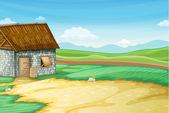 Barn scene — Stock Vector