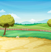 Farm scene — Stock Vector