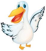 Animated pelican — Stock Vector
