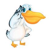 Pelican character — Stock Vector