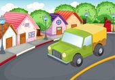 Carro verde — Vetor de Stock