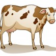 Stock Vector: Cartoon cow