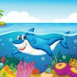 Shark fish in sea — Stock Vector #11721753
