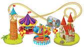 Juegos de parque de atracciones — Vector de stock