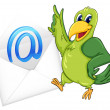 Bird with mail envelop — Stock Vector #11882325
