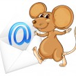 Mouse with mail envelop — Stock Vector #11882350
