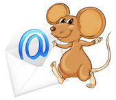 Mouse with mail envelop — Stock Vector