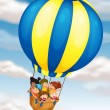 Royalty-Free Stock Vector Image: Kids flying in hot air balloon