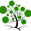 Tree clipart — Stockvektor