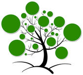 Tree clipart — Stockvector