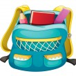 School bag - Stock Vector