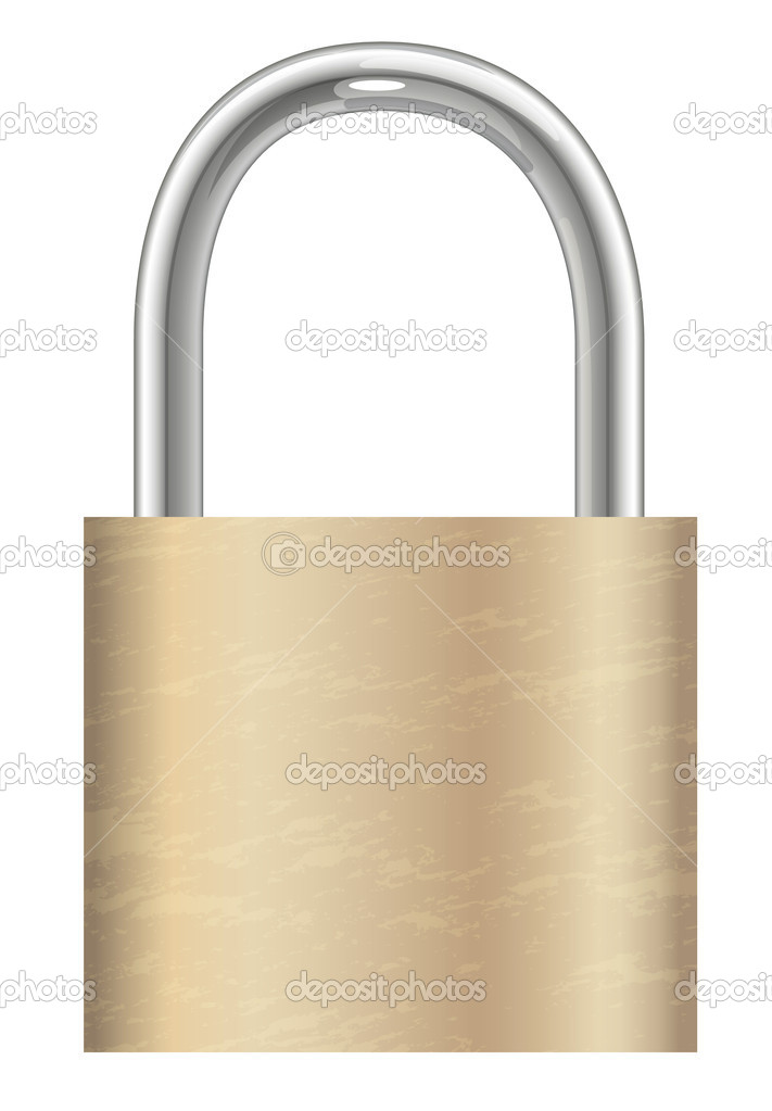 Illustration of a lock on a white background — Stock Vector #12200380