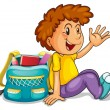 A boy with school bag — Stock Vector #12232201