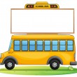 A school bus and board — Stockvectorbeeld