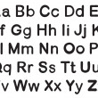 English alphabets — Stok Vektör