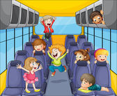 Kids in the bus — Stock Vector
