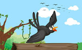 A bird in nature — Stock Vector
