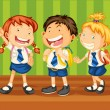 Stock Vector: School kids