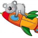 Bear on a rocket — Stock Vector #12385450