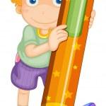 Boy with pencil — Stock Vector #12397930